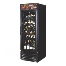 True GDM-23W-RF 23 Cu Ft  Radius Front Glsss Door Wine Merchandiser