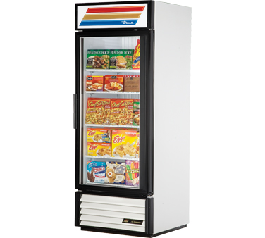 True GDM-26F-LD One-Section Glass Door Freezer Merchandiser 26 Cu Ft