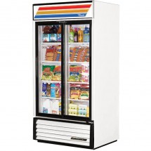 True GDM-33 33 Cu Ft 2-Section Glass Door Refrigerated Merchandiser
