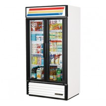 True GDM-35 35 Cu Ft 2-Section Glass Door Refrigerated Merchandiser