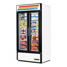 True GDM-35F 35 Cu Ft Two-Section Glass Door Freezer Merchandiser