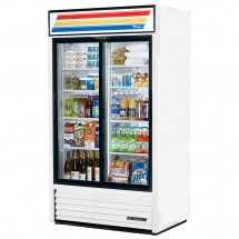 True GDM-37 37 Cu Ft 2-Section Glass Door Refrigerated Merchandiser