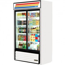 True GDM-41SL 33 Cu Ft 2-Section Glass Door Refrigerated Merchandiser