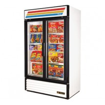 True GDM-43F 40.6 Cu Ft Two-Section Glass Door Freezer Merchandiser