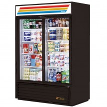 True GDM-47 47 Cu Ft 2-Section Glass Door Refrigerated Merchandiser