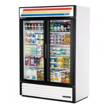 True GDM-49 49 Cu Ft 2-Section Glass Door Refrigerated Merchandiserr
