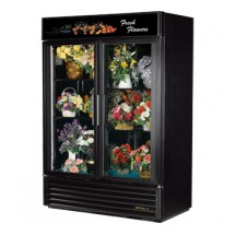 True GDM-49FC 49 Cu Ft Two-Section Glass Door Floral Merchandiser