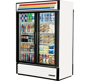 True GDM-49RL-LD  Glass Door Rear-Load Merchandiser 49 Cu Ft