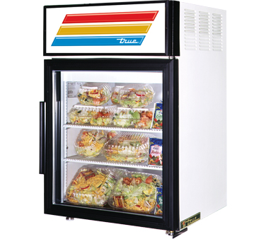 True GDM-5-LD Countertop Display Refrigerator with Swing Door, 5 Cu Ft