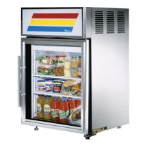 True GDM-5-S-LD Stainless Steel Countertop Display Refrigerator with Swing Door 5 Cu Ft