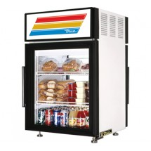 True GDM-5PT-LD Pass-Through Countertop Display Refrigerated Merchandiser with Swing Door 5 Cu Ft