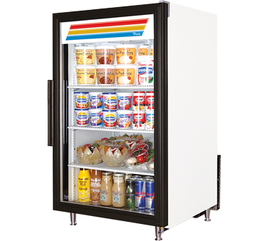 True GDM-7-LD Countertop Display Refrigerator with Swing Door, 7 Cu Ft