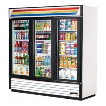 True GDM-72 72 Cu Ft 3-Section Glass Door Refrigerated Merchandiser