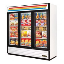 True GDM-72F 72 Cu Ft Three-Section Glass Door Freezer Merchandiser