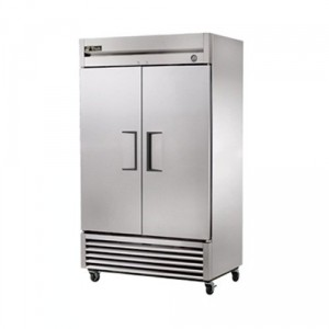 True Mfg. T-43  Solid 2 Door Reach-In 43 Cu.ft Commercial Refrigerator with Stainless Steel Front