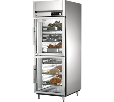 True STA1H-2HG 31 Cu Ft Reach In One-Section Glass Half Door Heated Cabinet