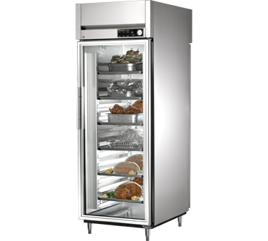 True STA1HPT-1G-1S 31 Cu Ft Pass-Thru Glass and Solid Door Heated Cabinet