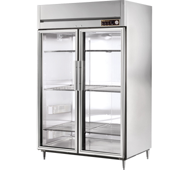 True STA2H-2G 56 Cu Ft Reach In Two-Section Glass Door Heated Cabinet