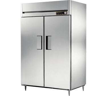 True STA2H-2S 56 Cu Ft Reach In Two-Section Solid Door Heated Cabinet