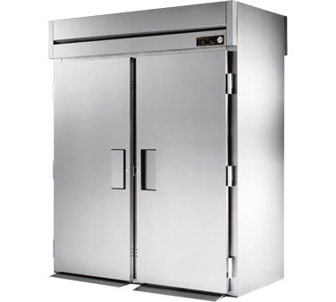 True STA2HRT-2S-2S 75 Cu Ft Roll In Two-Section Solid Door Heated Cabinet