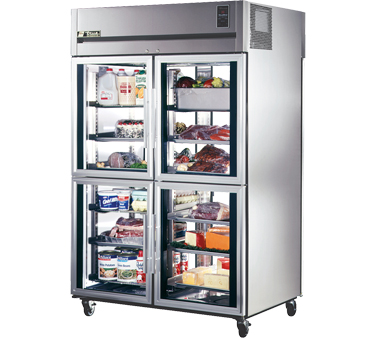 True STA2RPT-4HG-2G 56 Cu Ft Pass-Thru Two-Section Refrigerator