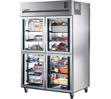 True STA2RPT-4HG-2S 56 Cu Ft Pass-Thru Two-Section Refrigerator