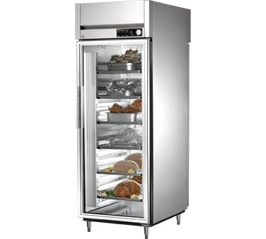 True STG1HPT-1G-1S 31 Cu Ft Pass-Thru Glass and Solid Door Heated Cabinet