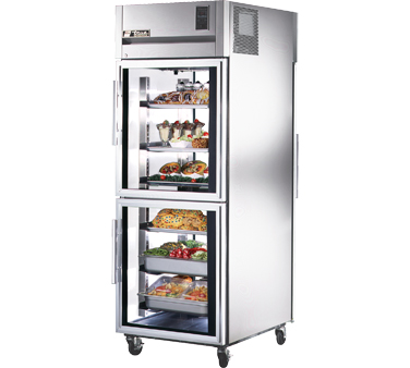 True STG1RPT-2HG-1G 31 Cu Ft Pass-Thru One-Section Refrigerator