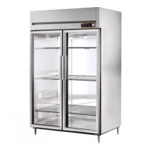 True STG2H-2G 56 Cu Ft Reach In Two-Section Glass Door Heated Cabinet