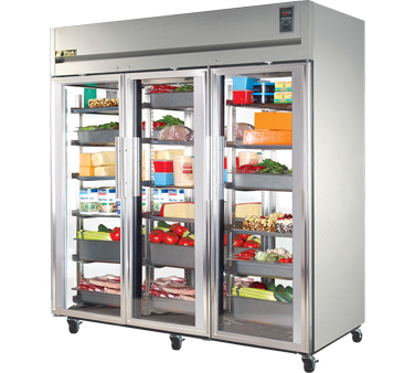 True STG3R-3G 85 Cu Ft Reach-In Three-Section Refrigerator