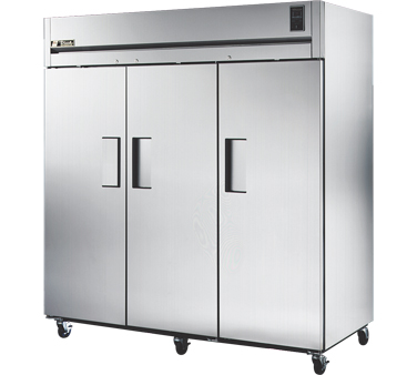 True STG3R-3S 85 Cu Ft Reach-In Three-Section Refrigerator