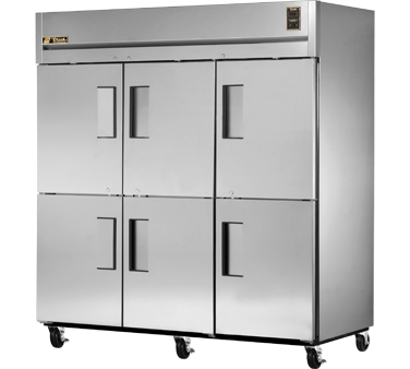 True STG3R-6HS 85 Cu Ft Reach-In Three-Section Refrigerator
