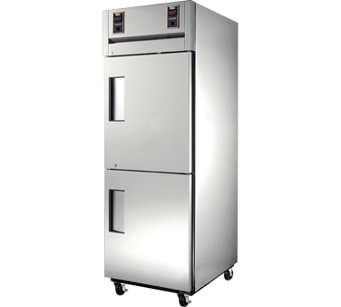 True STR1DT-2HS 13 cu ft / 13 Cu Ft Dual Temp Reach-In One-Section Refrigerator / Freezer