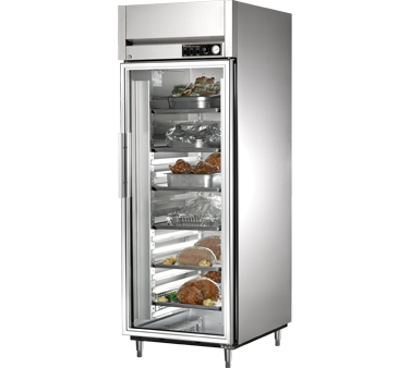 True STR1H-1G 31 Cu Ft Reach In One Section Glass Door Heated Cabinet