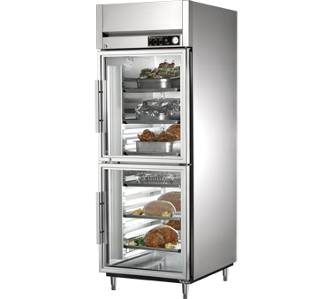 True STR1H-2HG 31 Cu Ft Reach In One-Section Glass  Half Door Heated Cabinet