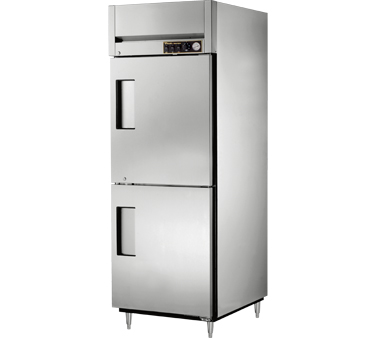 True STR1H-2HS 31 Cu Ft Reach In One Section Solid Half Door Heated Cabinet