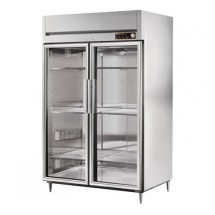 True STR2H-2G 56 Cu Ft Reach In Two-Section Glass Door Heated Cabinet