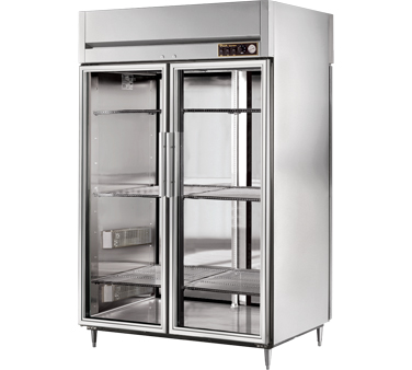 True STR2HPT-2G-2S 56 Cu Ft Pass-Thru Glass and Solid Door Heated Cabinet