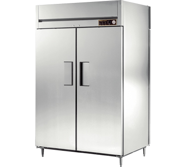 True STR2HPT-2S-2S 56 Cu Ft Pass-Thru Solid Door Heated Cabinet