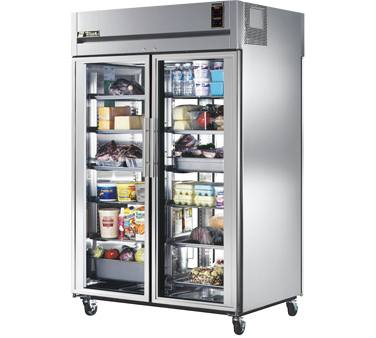True STR2RPT-2G-2G 56 Cu Ft Pass-Thru Two-Section Refrigerator