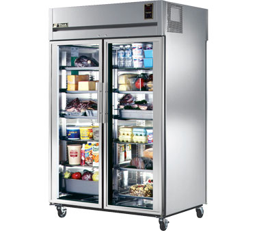True STR2RPT-2G-2S 56 Cu Ft Pass-Thru Two-Section Refrigerator