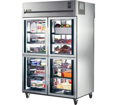 True STR2RPT-4HG-2G 56 Cu Ft Pass-Thru Two-Section Refrigerator