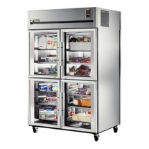 True STR2RPT-4HG-2S 56 Cu Ft Pass-Thru Two-Section Refrigerator