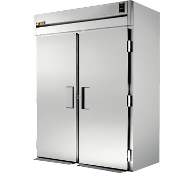 True STR2RRI89-2S 80 Cu Ft Roll-In Two-Section Refrigerator