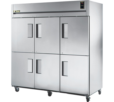 True STR3F-6HS 85 Cu Ft Reach-In Three-Section Freezer
