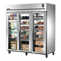 True STR3R-3G 85 Cu Ft Reach-In Three-Section Refrigerator