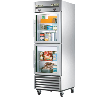True T-23DT-G 11 cu ft / 8 Cu Ft Dual Temp Reach-In One-Section Refrigerator / Freezer