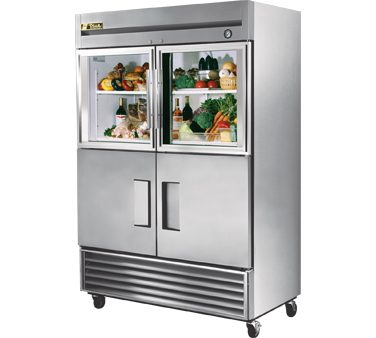 True T-49-2-G-2 49 Cu Ft Reach-In Two-Section Refrigerator
