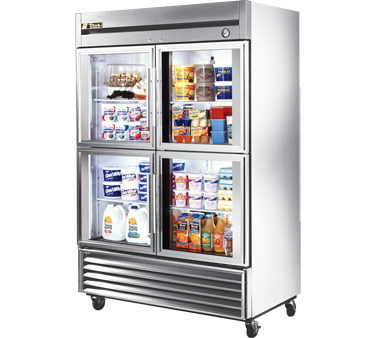 True T-49G-4 49 Cu Ft Reach-In Two-Section Refrigerator