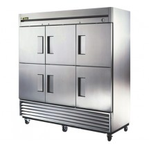 True T-72-6 72 Cu Ft Reach-In Three-Section Refrigerator